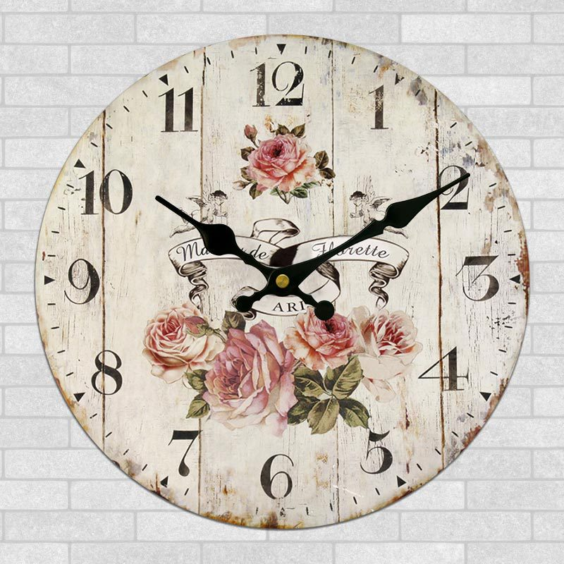 World Map Large Decorative Wall Clock Modern Design