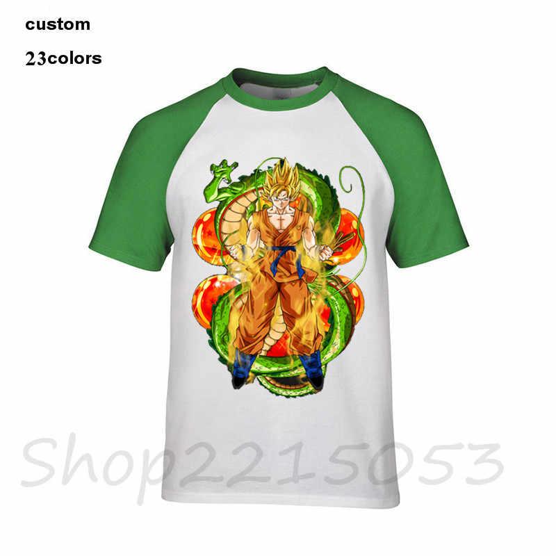 2018 Модная японская DBZ Goku с Shenron Dragon Ball Мужская футболка уличная детская одежда wo мужские хлопковые футболки Мужская футболка