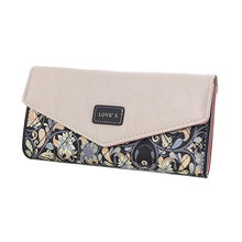 Famous Brand Designer Luxury Print Long Wallet Women Wallets Female Flower Clutch Bag Ladies Money Coin