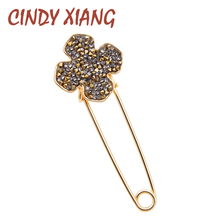 CINDY XIANG Brooches For Women Simple Flower Fashion Pins For Lady Meeting Jewelry Coat  Office Accessories Friend's Gift 2018 cindy xiang brooches for women simple flower fashion pins for lady meeting jewelry coat office accessories friend s gift 2018