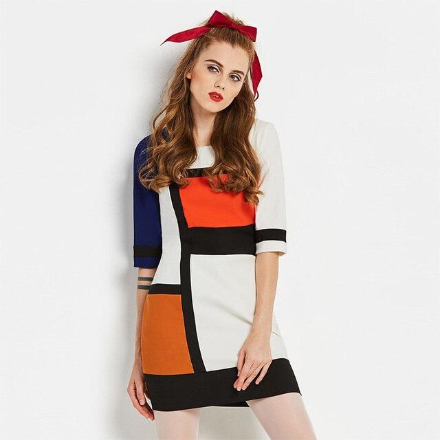 9d895223766 Sisjuly Neue Vintage 1960 s Mantel Elegante Kleid Herbst Patchwork  Weibliche Party Kleid frauen Über Retro