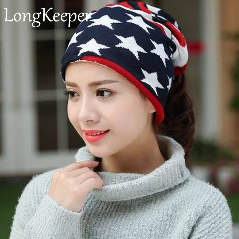 Spring New Arrival 13 Styles Star Women s Hats Adjustable Size Beanie Girls  Skullies Winter Hats For Women Autumn Thin Hat-in Skullies   Beanies from  ... e4c5ae8ab82