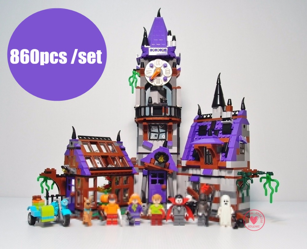 New Scooby Doo Mystery Mansion castle fit legoings Scooby Doo figures 75904 model Building Bricks blocks gift kid boys Toys diy bela 10432 compatible with lego 75904 scooby doo figures mystery mansion model building blocks educational toys for children