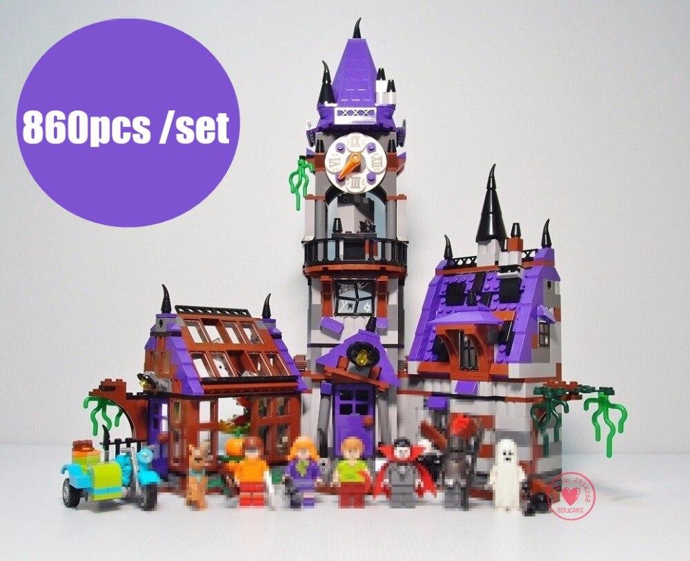 New <font><b>Scooby</b></font> <font><b>Doo</b></font> <font><b>Mystery</b></font> <font><b>Mansion</b></font> castle fit legoings <font><b>Scooby</b></font> <font><b>Doo</b></font> figures 75904 model Building Bricks blocks gift kid boys Toys diy