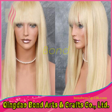 Fashion #613 human hair full lace wig with bangs glueless lace front wigs natural hair line 8~26 inch