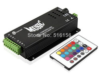 RGB Music Controller 2 Ports Output For Color Changing Neon LED Strips With Remote Controler For