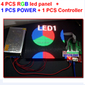 4pcs 4mm full color led tile + 1 pcs async controller + 1pcs 5v 40a 110v/220v power supply, all cable fedex/dhl free shipping