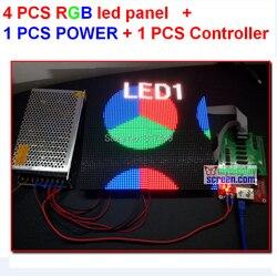 4pcs 4mm full color led tile + 1 pcs async controller + 1pcs 5v 40a 110v/220v power supply, all cable fedex/dhl free shipping