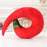 U Shaped Neck Pillow Peeled Prawns Chili Eggplant Pillows Home Office Car Travel Head Rest Cushions