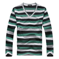 New Arrival 2014 Men S Long Sleeved Cotton Comfortable Sweater With Stripes Fashion And Hot Brand