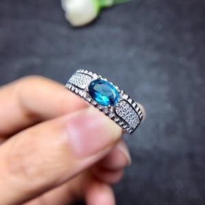 Image 2 - Tự nhiên Topaz Nhẫn 925 Bạc Sapphire Màu Xanh Sapphire sản phẩm mới cập nhật mỗi ngày để tập trung vào những người bán hàng.