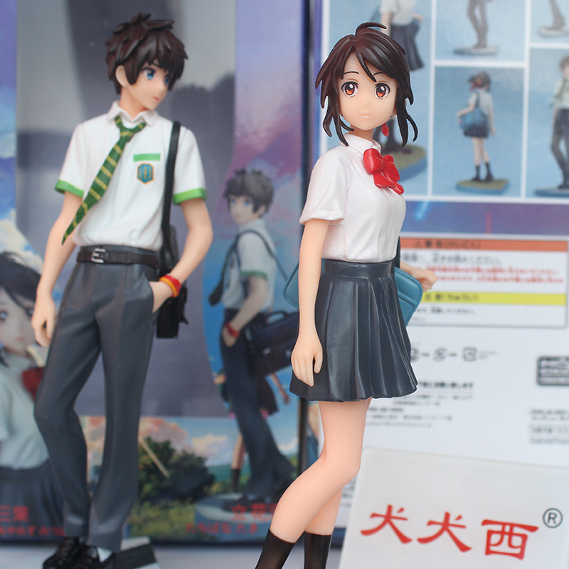 estilo japonês anime figur 2 kimino miyamizu mitsuha seu nome na wa