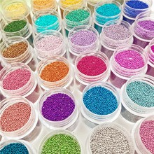 10grams 0.6-0.8mm Metallic 36 colors tiny glass beads fit vial jewelry bottle filler making