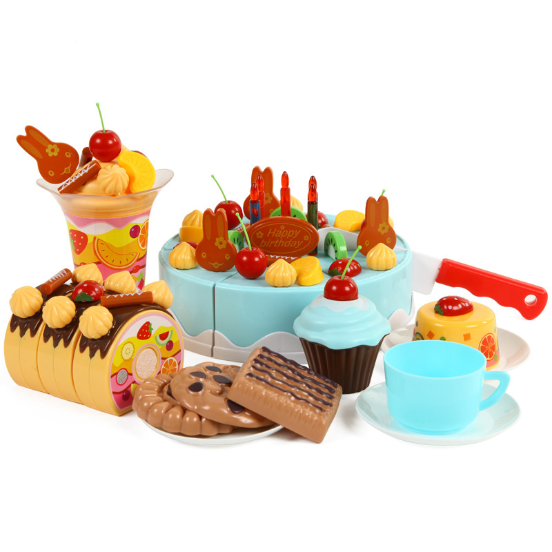 75 Teile/satz Künstliche Obst Kuchen Spielzeug Baby Spielzeug kinder ...