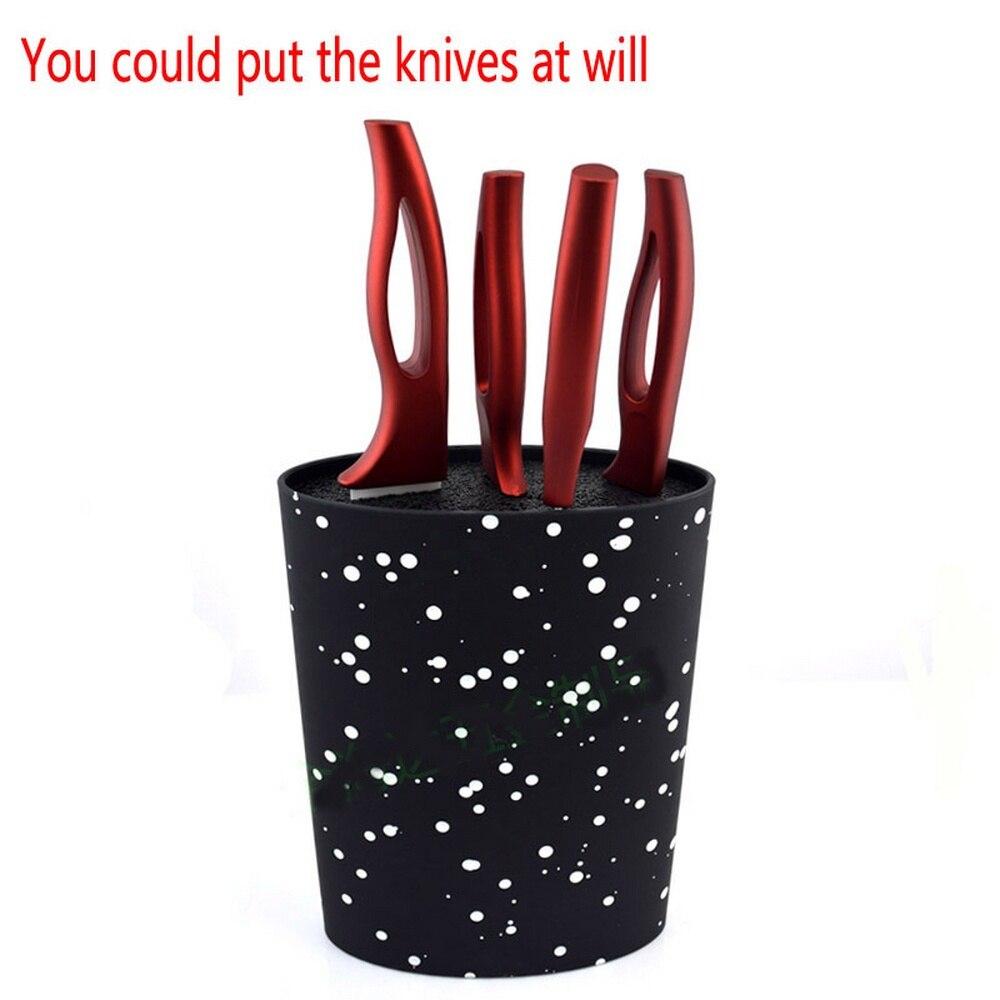 Подставка для ножей Овальный нож блок держатель с черной нейлоновой вставкой кухонный нож держатель Подставка для кухонных ножей блоки