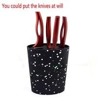 Stand for knives Oval Knife Block Holder with Black Nylon Insert Kitchen Knife Tool Holder Storage Kitchen Knife Stand Blocks
