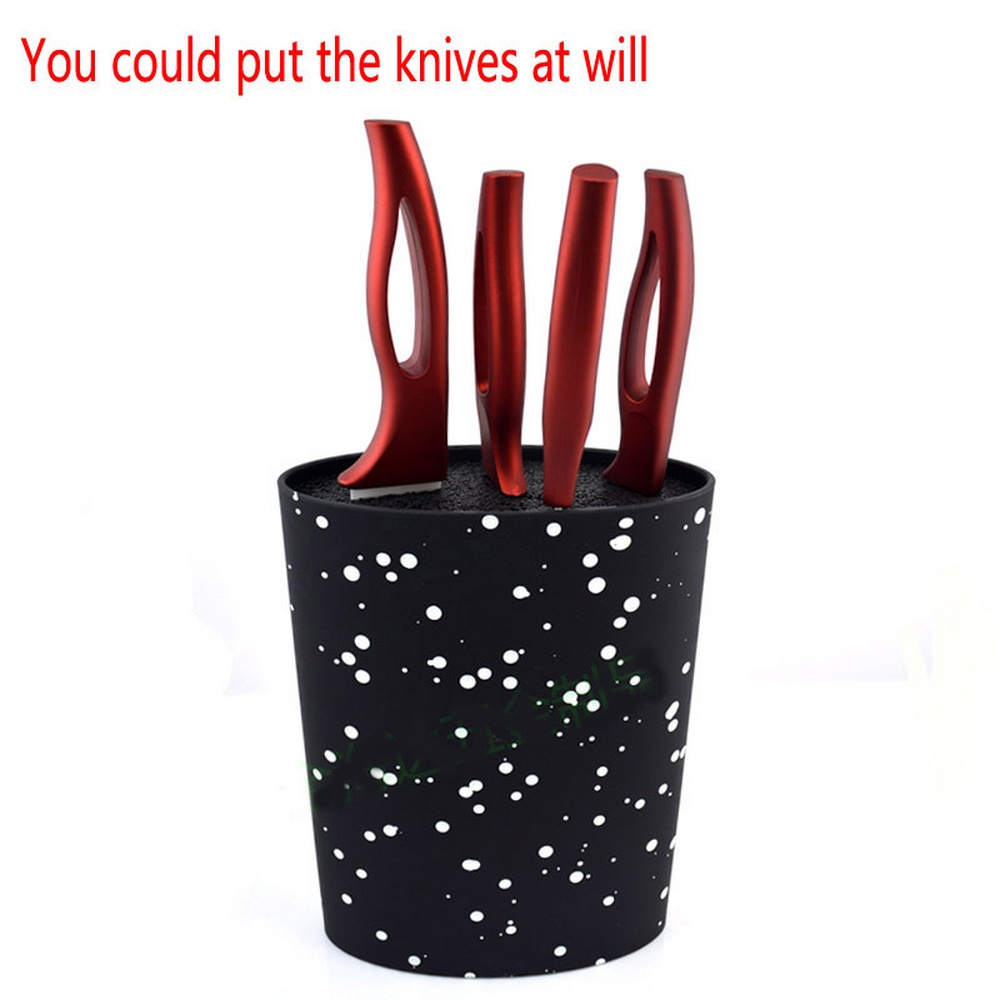Stand For Knives Oval Knife Block Holder With Black Nylon Insert Kitchen Knife Tool Holder Storage Kitchen Knife Stand Blocks
