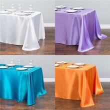 Прямоугольная атласная Скатерть для отеля, скатерти для стола, покрытие для стола, скатерть для украшения свадебной вечеринки, банкета
