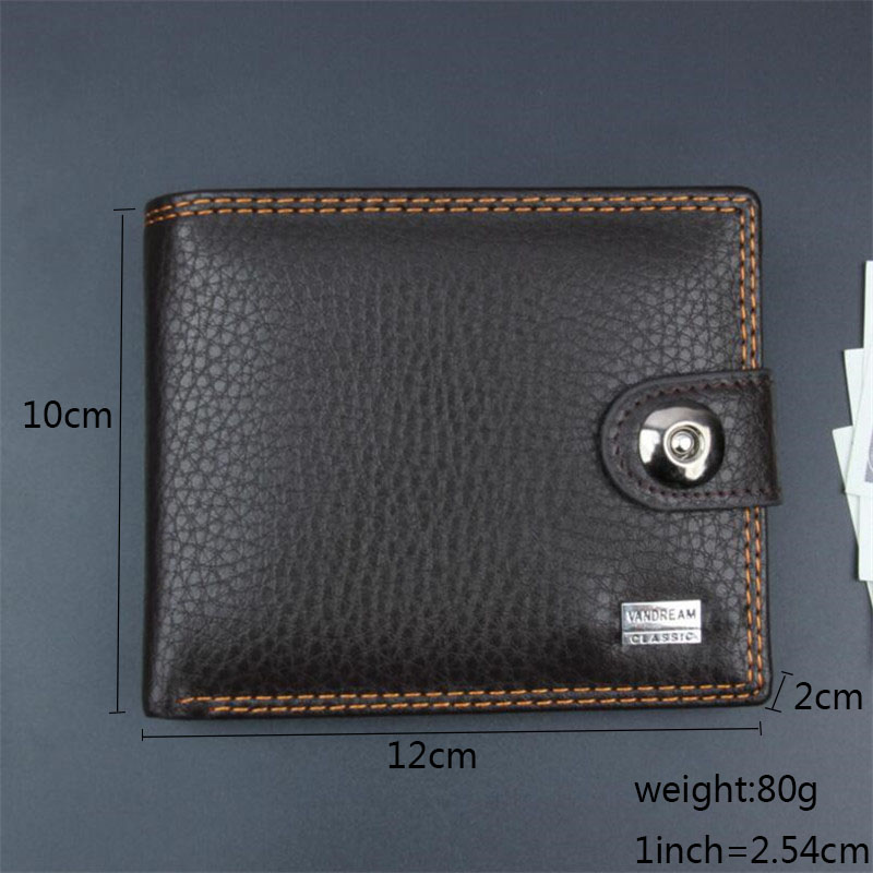 2018 Leather Men Wallets Simple Style Hasp Purse Business Card Holder Brand High Quality Male Wallet Bifold Coin Pocket Purse