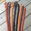 Drop shipping 2016 nova mulheres tamanho grande cinto de couro trançado tecer cinto de couro selvagem feminino casual cintos finos para mulheres PB289