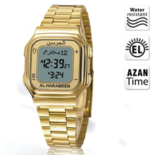 Azan Watch with Prayer Alarm and Auto Qibla Mosque Clock for Muslim Athan Time for Islam