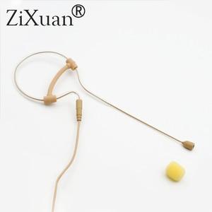 Image 2 - Skin Color Mini Single Ear Hanging Omni Directional Condenser Headset Microphone For Sennheiser Shure akg  Audio Technica