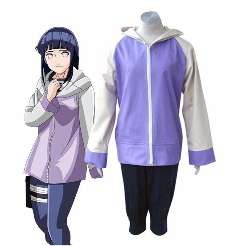 NARUTO Hyūga Hinata Second Generation Uniform Cosplay Costume Women
