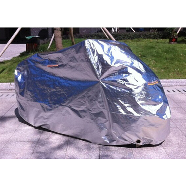 Universal Aluminum Foil Motorcycle Waterproof Covers Motor Rain Coat Sunshine protection UV Protection Motorcycle Cover