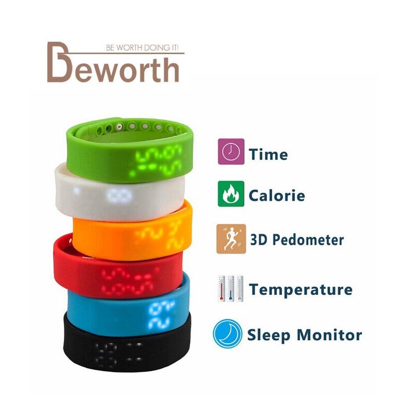 Smart Band Bluetooth W2 USB Sports Bracelet Activity Monitor Calories 3D Pedometer Wristband Smartband Time Display