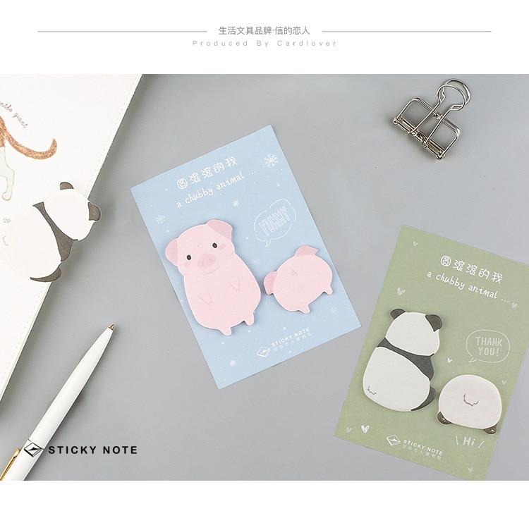 Memo Pads Intelligent Corgi Dog Pig Panda Alpaca Memo Pad N Times Sticky Notes Escolar Papelaria School Supply Bookmark Label Notebooks & Writing Pads