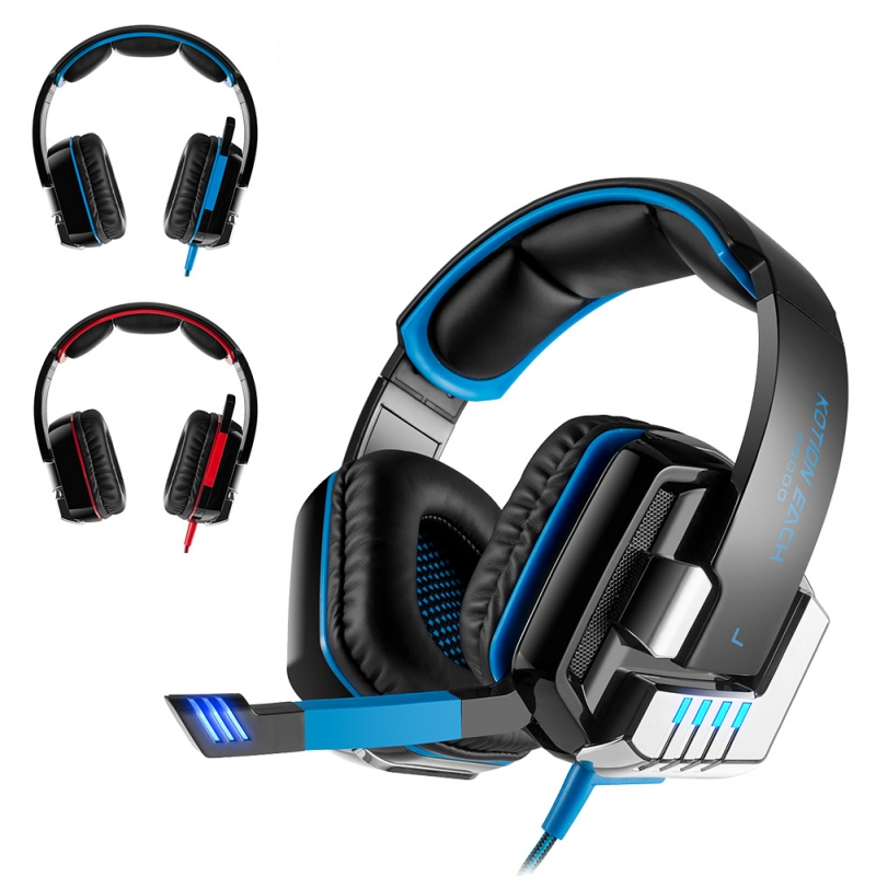 High Quality 3.5mm Wired Gaming Headset Headphone Bass Stereo Earphone with Mic Noise Cancelling For Computer Games