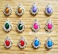 10 unids Glitters aleación de los Rhinestones cristalinos de la perla de piedra del clavo 3D consejos de arte decoración DIY