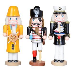 25 см кукольные декоративные украшения Пират капитан морской кукла-Щелкунчик солдат украшение