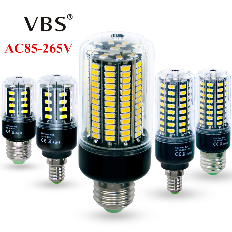 High Lumens No Flicker 5736 SMD E27 E14 3.5W 5W 7W 8W 12W 15W LED Corn Bulb light 85V-265V Constant Current 28-156LEDs lamp 2pcs real full watt 3w 5w 7w 8w 12w 15w e27 e14 led corn bulb 85v 265v smd 5736 led lamp spot light 28 40 72 108 132 156 leds