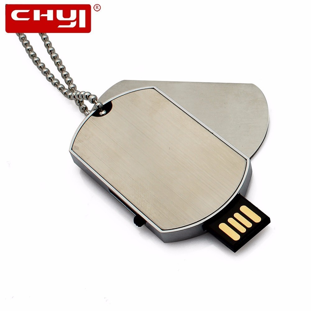 Top 99 Cheap Products 32gb 16gb 8gb 4gb Usb In Bulbs Flashdisk Stainless Chyi Pendant Military Dog Tag Shape Flash Drive Oem Logo Memory Stick 64gb Pendrive Metal Pen Driver Gift