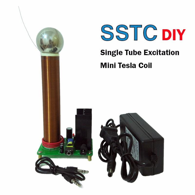 Mini Tesla Spule Drahtlose Übertragung mit Arc Magic Prop Teaching DIY