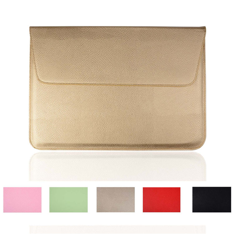 pink green gold red black Litchi Skin pu Leather Sleeve Case For Macbook Air 11.6,Air Retina 13, pro retina 15