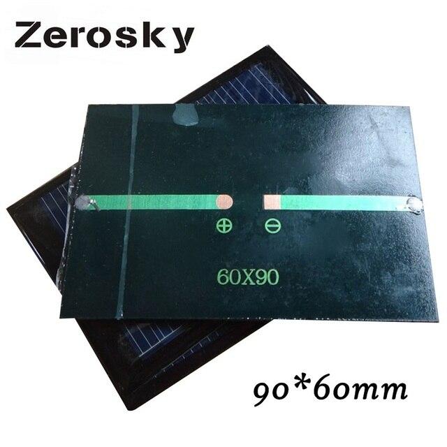 Zerosky Pannello Solare 0.6 W 6 V Mini Sistema Solare Cellulare FAI DA TE Per La Batteria Del Telefono Cellulare Caricabatterie Solare Portatile di Alta qualità