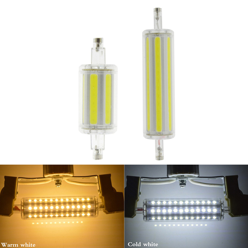 r7s led 118mm 78mm dimmable Instead of halogen lamp cob 220V 110V 230v Energy saving powerful R7S led bulb 15W 30W