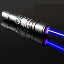 Qiying 450nm 3000m focus réglable brûlant bleu laser pointeur étoile pointeur torche pour camping en plein air cadeau enseignement