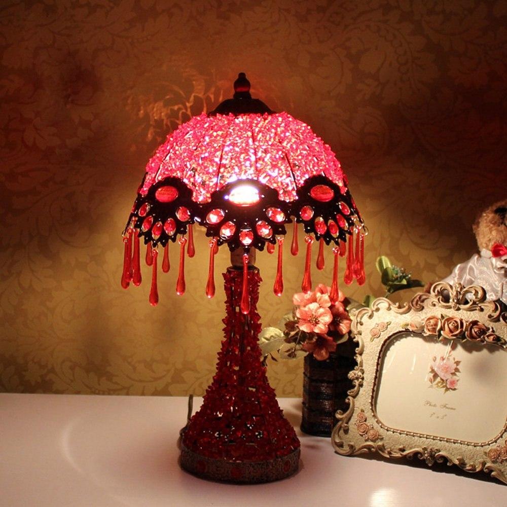 Непал зонтичного типа Спальня Настольная лампа Кабинет акрил Бусины Настольная лампа Кабинет элегантный бар клуб Кофе стол лампа