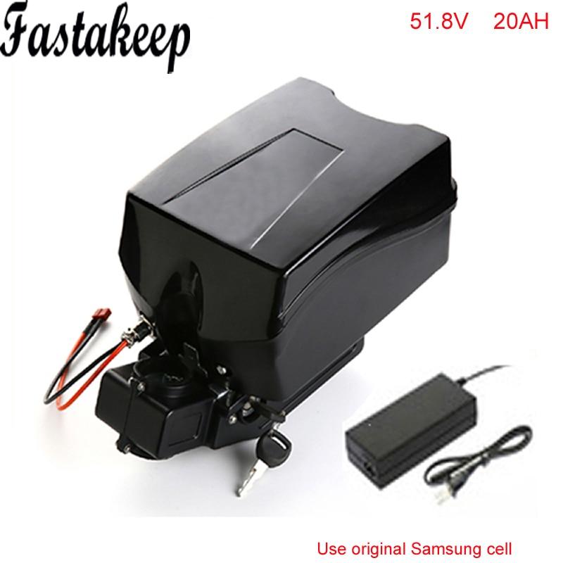 51.8 v 20ah batterie de vélo électrique 52 v 1500 w bafang bbs03 batterie au lithium avec chargeur pour cellule Samsung