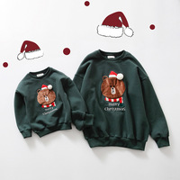 Famliy Matching Cotton Kids Baby Boys Girls Mommy Sweaters Full Sleeve Cute Bear Romper Jumpsuit Clothes