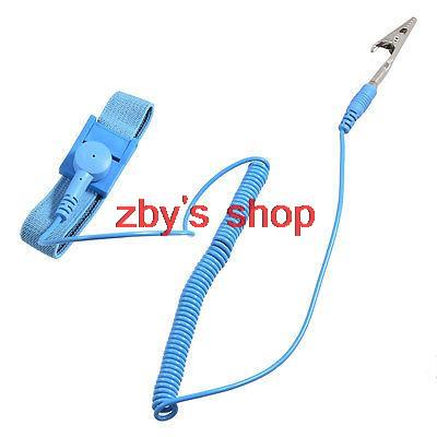 Ground Conductive Anti Static Esd Adjustable Wrist Strap Band W Cable