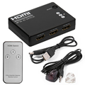 HDMI 3 Port Switch Selector Switcher Splitter Hub with Remote 1080p for PS3 HDTV AH130