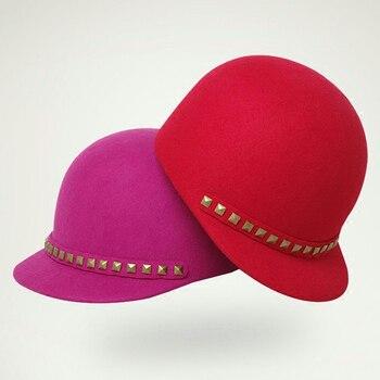 5e4adfbc1f691 Sedancasesa niñas niños de lana de Australia Cloche de fieltro sombrero  chicas sombrero gorra de boina sombrero de invierno