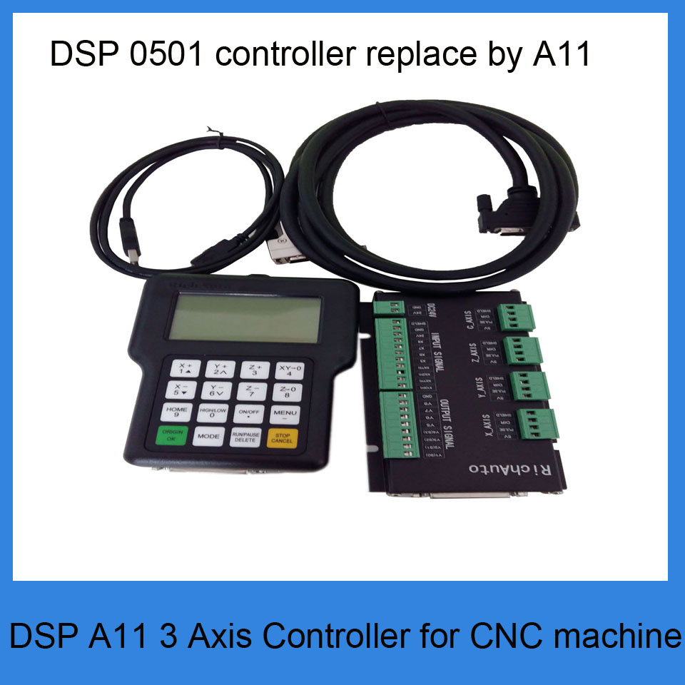 RichAuto A11 DSP CNC controller 3 axis controller for cnc router better than DSP 0501 controller все цены