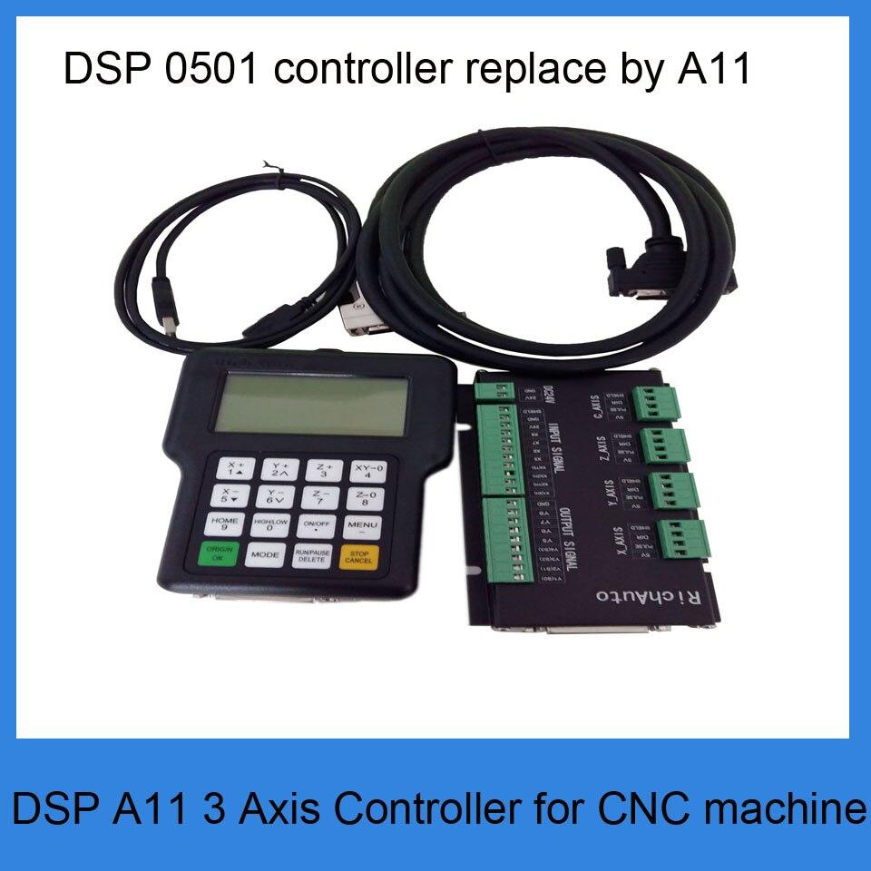 RichAuto A11 DSP contrôleur de CNC contrôleur 3 axes pour routeur de CNC mieux que le contrôleur DSP 0501
