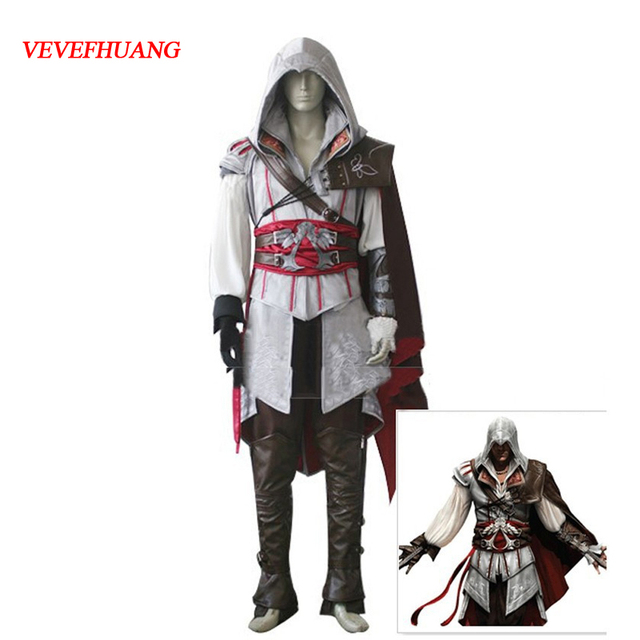 VEVEFHAUNG Assassin s Creed II Cosplay Costume Assassins Creed Ezio Costume  Kids Men clothes sets a27d034fb287