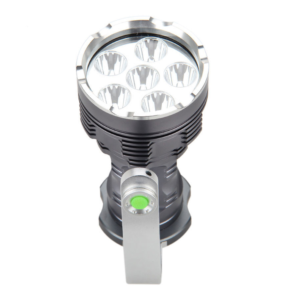 Rechargeable LED Searchlight Tactical Flashlight 6T6 Spotlight 8000 Lumens philips philips bhh777 00 малиновый мультистайлер